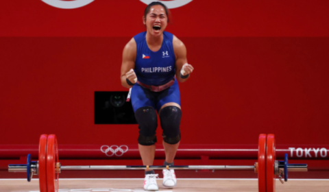 Philippines' weightlifting fairy bags country's first Olympic gold medal